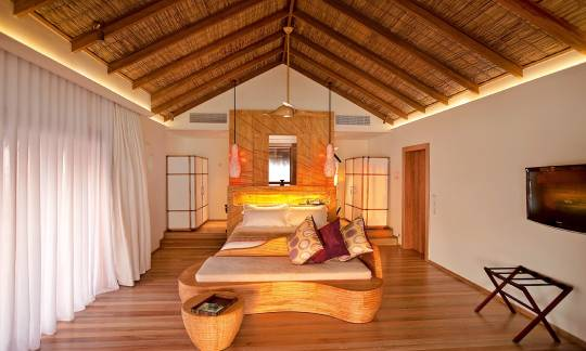 Constance Moofushi Maldives Water Villa Bedroom view